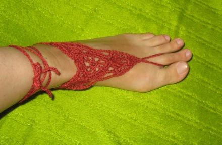 Barfuß-Sandalen, rost