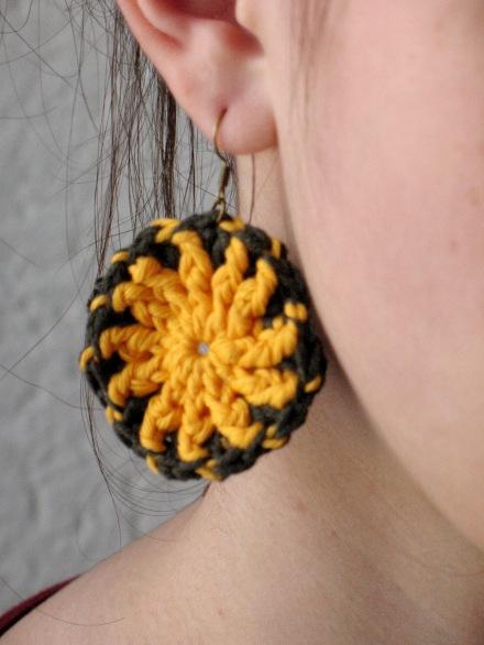 Ohrringe, gelb