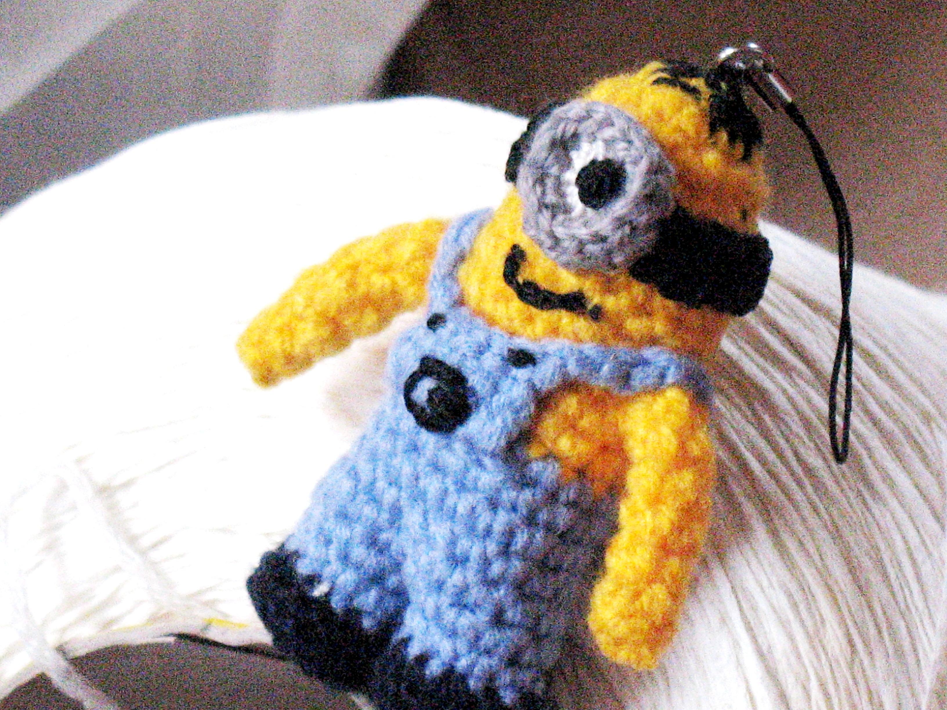 Minion Inspired Keychain Minion Amigurumi Als Schlüsselanhänger